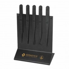 Набор пинцетов ESD из пластика на подставке (5 предметов) Bernstein 5-180