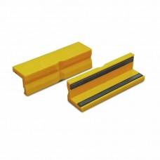 Сменные зажимные губки для тисков жёлтые с магнитом 100 мм (2 штуки) Bernstein 9-900-S7100