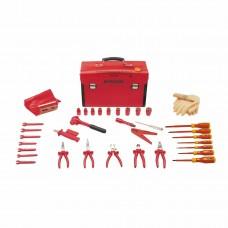 Набор инструментов VDE SAFETY в кожаном чемодане (35 предметов) Bernstein 8100 VDE