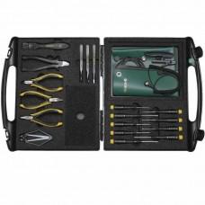 Профессиональный набор антистатических инструментов TRENDY C в ESD кейсе (18 предметов) Bernstein 2282